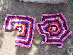 My Rose Valley: Hexagon baby cardigan