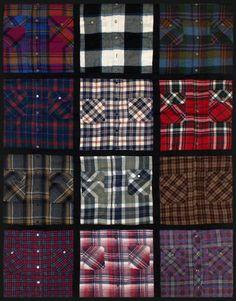 Flannel shirt quilt