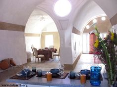 CalEarth -- the Interior of the vaulted earth bag construction house.   www.calearth.org  My Moroccan dream house!