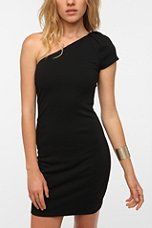 Urban Outfitters - KNT By Kova & T Ponte Knit Strong Shoulder Dress $70