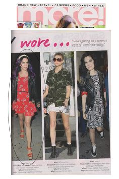 More!  25 th June 2012  Katy Perry wears LOVE Coral Flower Print Chiffon Open V Back Dress