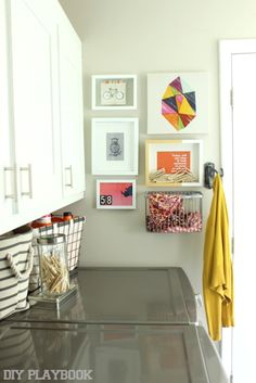 A mixture of HomeGoods frames + FREE Printables = one affordable gallery wall! #HomeGoodsHappy #sponsored