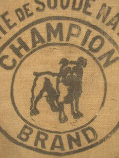 vintage black dog grain sack -  love this!!!