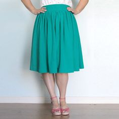 Learn to make a gathered skirt with a comfy elastic waist in this easy to follow sewing tutorial.