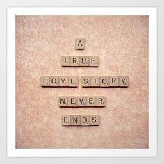 A True Love Story Never Ends Art Print by Retro Love Photography