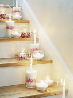 Candles, cranberries, and sugar