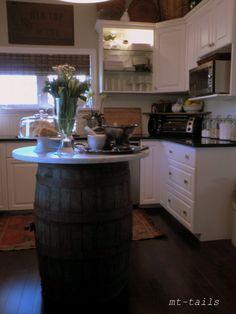 Barrel kitchen island