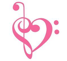 Treble Clef/Bass Clef heart <3