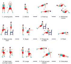 Ma routine matinale depuis quelques temps... Ok je triche, je le fais pas tous les jours mais j'essaie !!! --- iPhone app 7 Minute Workout App