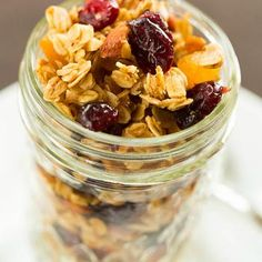 Maple-Almond Granola with Dried Fruit Recipe