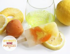 DIY Fruity Wine Sangria Popsicles Recipe
