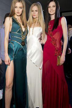 Backstage at Versace Women's Wear FW14-15 fashion show. #Versace #VersaceLive