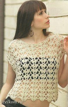 Top crocheted