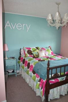 Wood Letters--Love this girls room!!