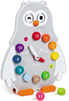 Amazon.com: Janod Owly Clock: Toys & Games