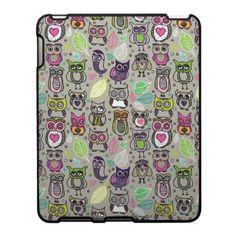 Adorable colorful cute Owl iPad case cover   #owls #cute #ipad #cover #skin #case #gadgets