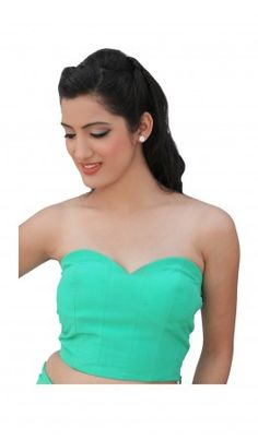Corset pleated Saree Blouse Designs with concealed in - built cups. For more detail visit http://www.kbshonline.com/