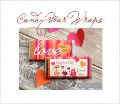 Free Candy bar wraps for Valentines Very Cute