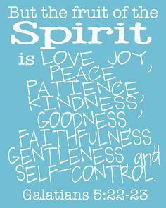 A free printable of Galatians 5:22-23!