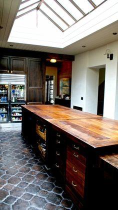 dark wood counter top