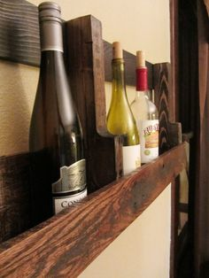 Recycled Pallet Wine Rack - Etsy