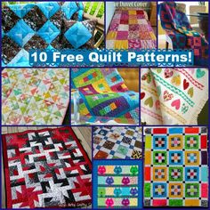 10 free quilt patterns with lots of great color!