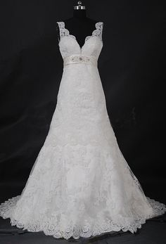 Cream Ivory Wedding Dress Lace Wedding DressBridal by LUXandGLAMOR, $350.00