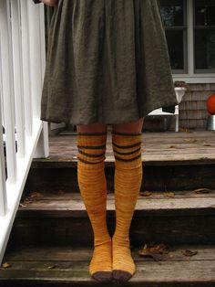over the knees socks.