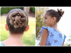 3D Flowers Bun!  Love this one for dance!  #CGH3Dflowerbun #cutegirlshairstyles #flower #bun #sporthair #hairstyles #hairstyle #dancehair