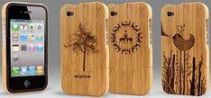 Capa de celular de bambu