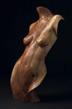 Chad Awalt, Artist, Nani, Cherry Wood Sculpture, 34x16x10