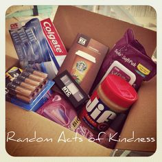 Random Acts of Kindness... sending a package to a soldier in Afghanistan.   Return To Home: 38 Acts of Birthday Kindness