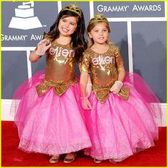 ellen degeneres, little girls, princess sophia, red carpets, children, halloween outfits, divas, sophia grace, kid