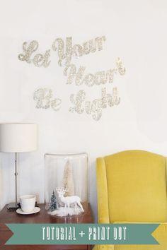 glitter wall letters - so cute!