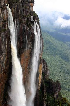 The tallest falls in the world, Angel Falls, in Venezuela.