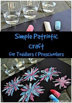 A simple classic craft for the little ones!  This was so much fun for my toddler and the results were beautiful!! #MemorialDay #4thofJuly #LaborDay #preschool