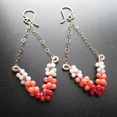 Unique Kreations - Summer Song Earrings - Handcrafted Wire Wrapped Earrings