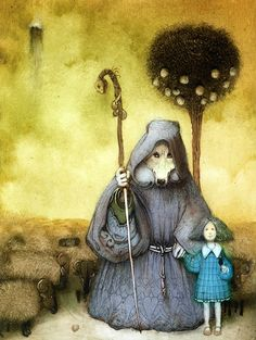 Alice and the Wolf - Kirill Chelushkin illustration