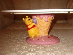 Winnie The Pooh cake plate pedestal base