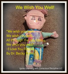 """We Wish You Well"" Absent Child Rituals and Conscious Discipline Resources by Jenny from Ignite Learning with Conscious Discipline at PreK + K Sharing"