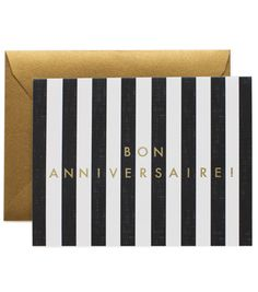 Bon Anniversaire! birthday card, paper obsess, french birthday