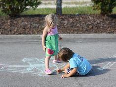 Shadow Chalk Experiment- Science Experiment   #kiwicratestudio
