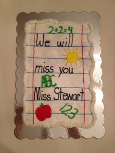 Cupcake cake idea for teacher - not just for leaving, but good for a thank you cake too.