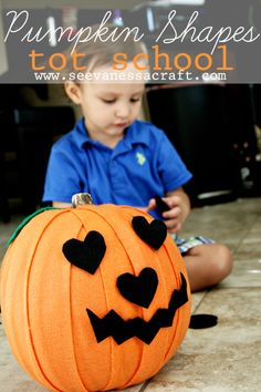 Pumpkin Shapes for Tot School from See Vanessa Craft