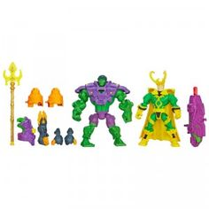 The Marvel Super Hero Mashers: Hulk vs. Loki Mash Pack from Hasbro is a two-figure pack.