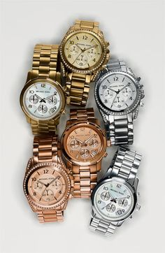 Michael Kors Runway watches. Bet you can't buy just one.