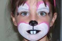 Really cute bunny face painting http://ajreports.com/facepainting  #facepainting #kids #bunny  Maquillage sur notre site: http://www.feezia.com/univers/accessoires-de-fete/maquillage-1/boite-de-12-crayons.html
