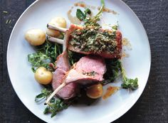 Herb-Crusted Rack of Lamb with New Potatoes - Bon Appétit