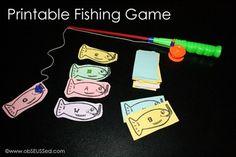 Printable alphabet fishing game