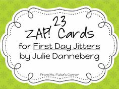 FREEBIE: First Day Jitters game cards for vocabulary practice from Ms. Fultz's Corner.